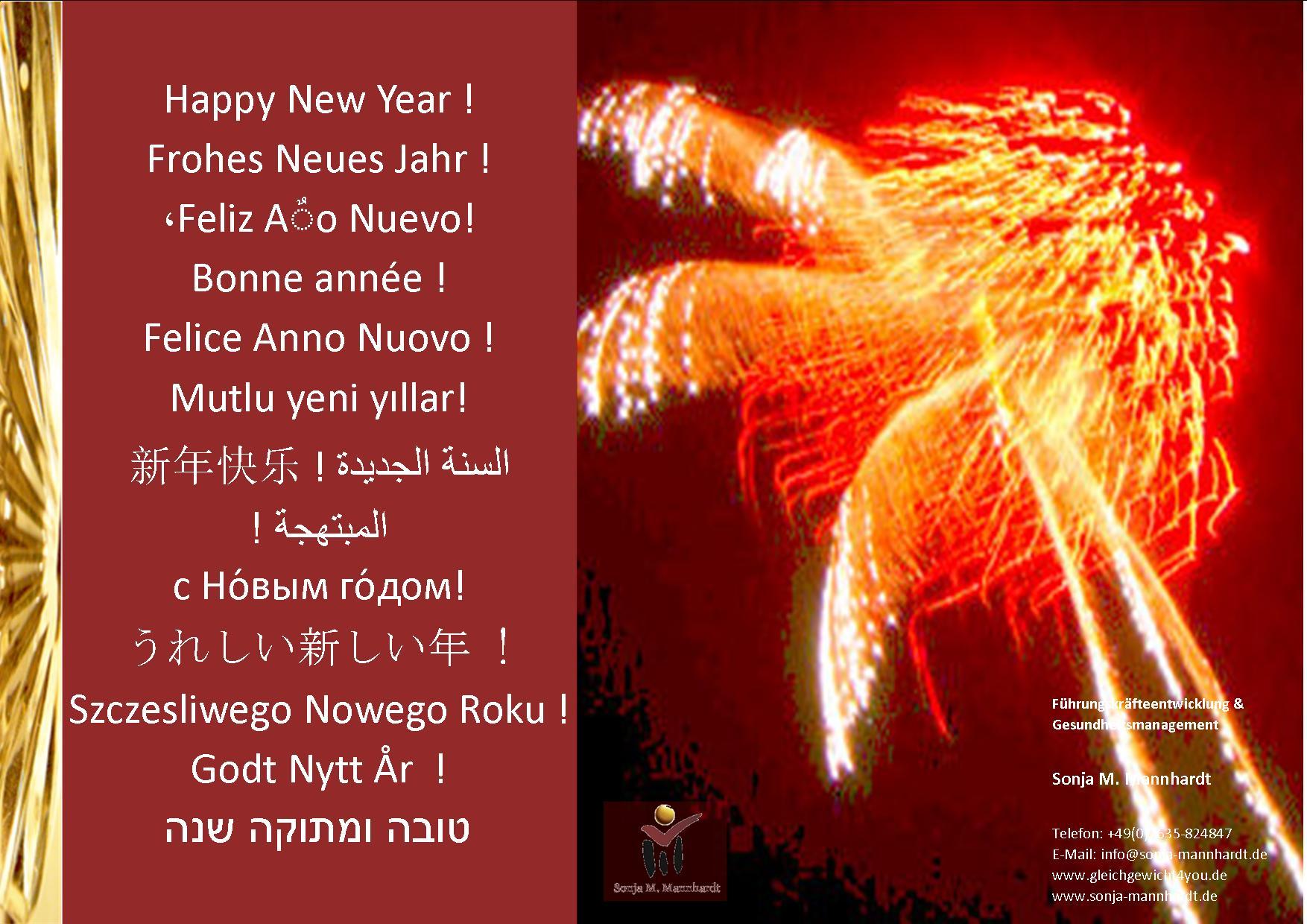 Happy New Year! Gedanken zum Anfang | Sonja Mannhardt ...